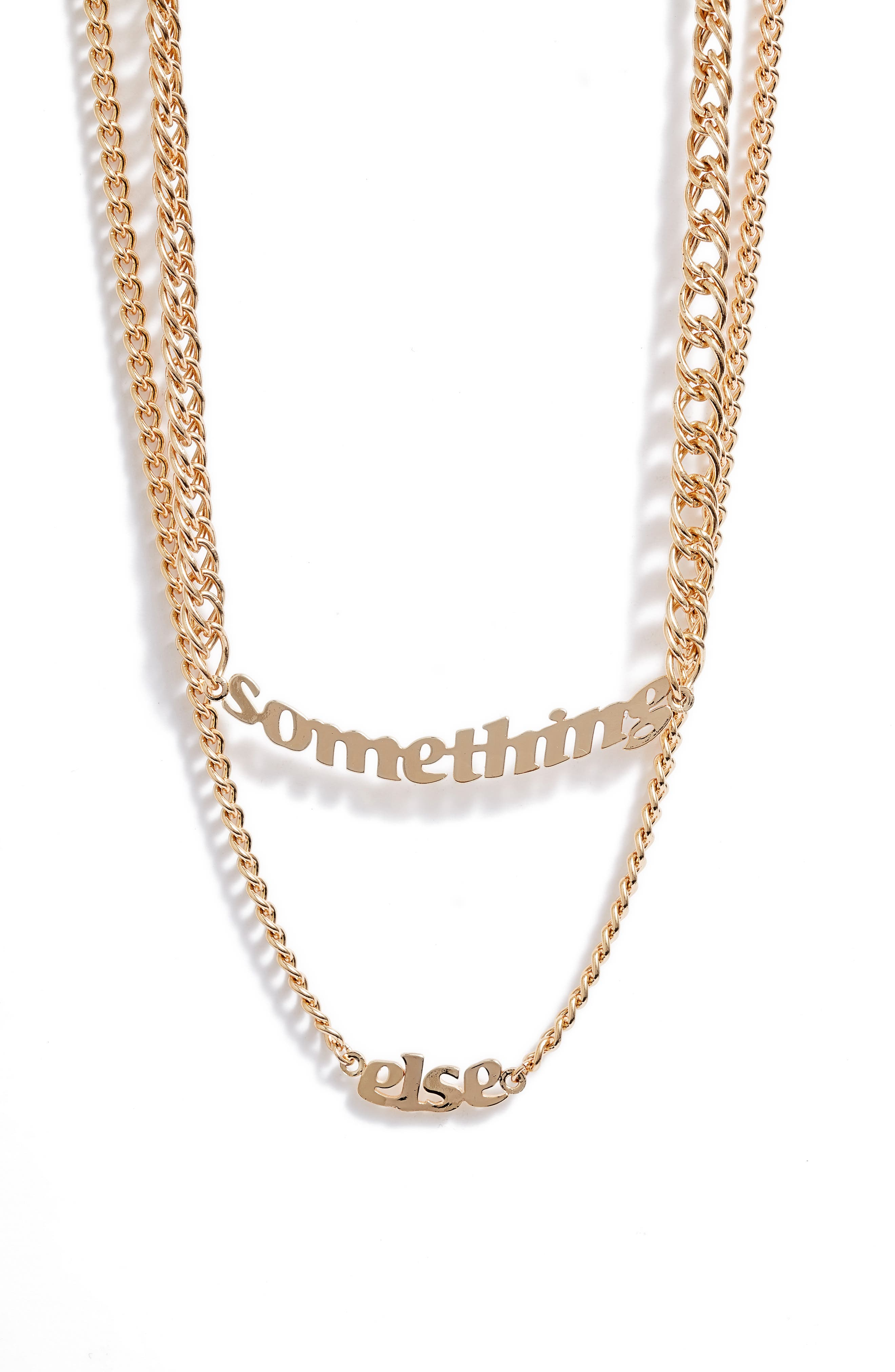 Women's Bp. + Wildfang Something Else Layered Pendant Necklace (Nordstrom Exclusive)