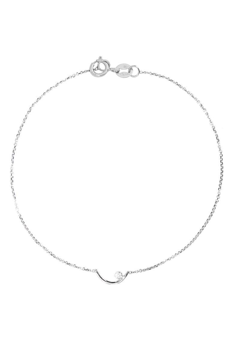 WWAKE Arc Lineage Diamond Bracelet, Main, color, STERLING SILVER/ WHITE DIAMOND