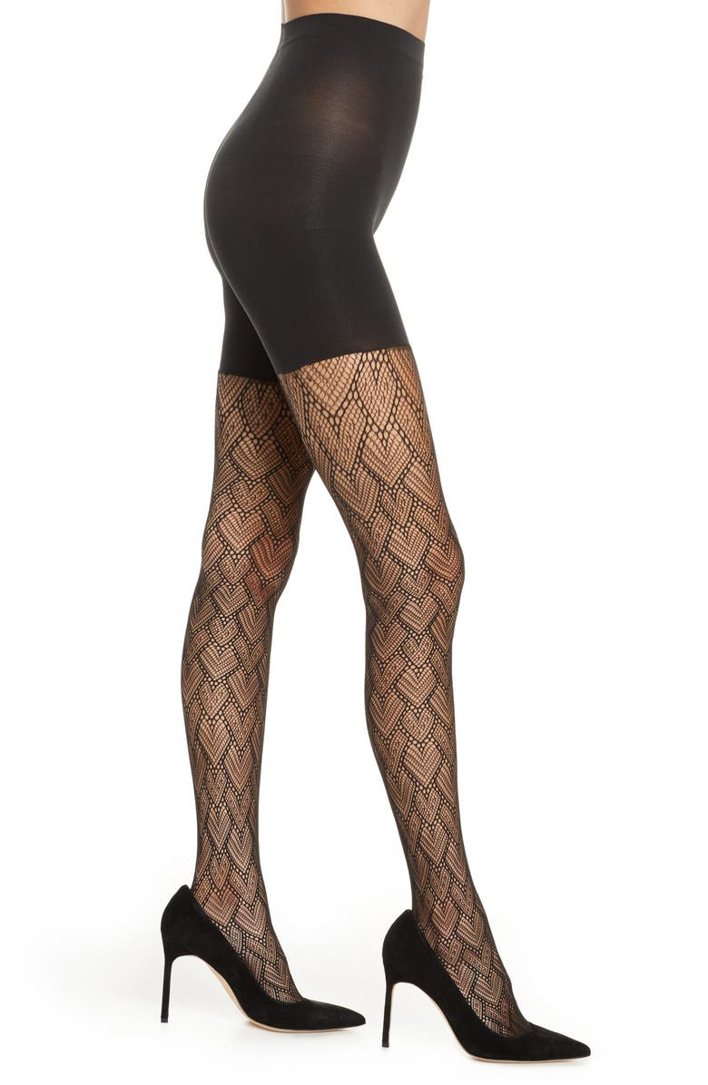 SPANX<SUP>®</SUP> Tight End Heart to Heart Tights, Main, color, 001