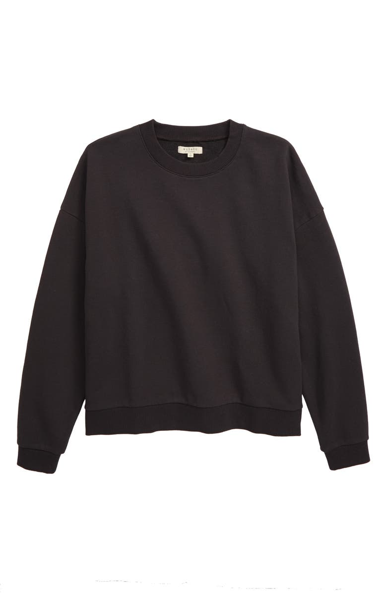 MADEWELL Recycled Cotton Oversize Sweatshirt, Main, color, BLACK COAL