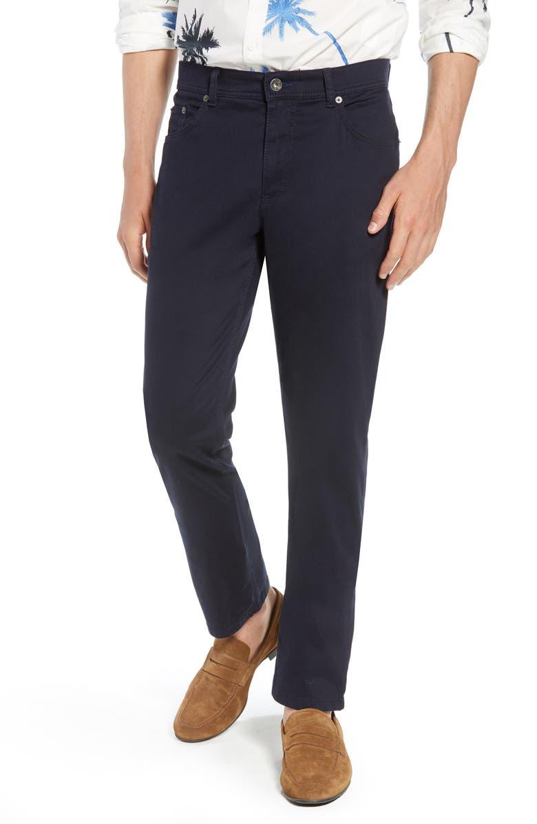 BRAX Cooper Prestige Straight Leg Stretch Cotton Pants, Main, color, PERMA BLUE