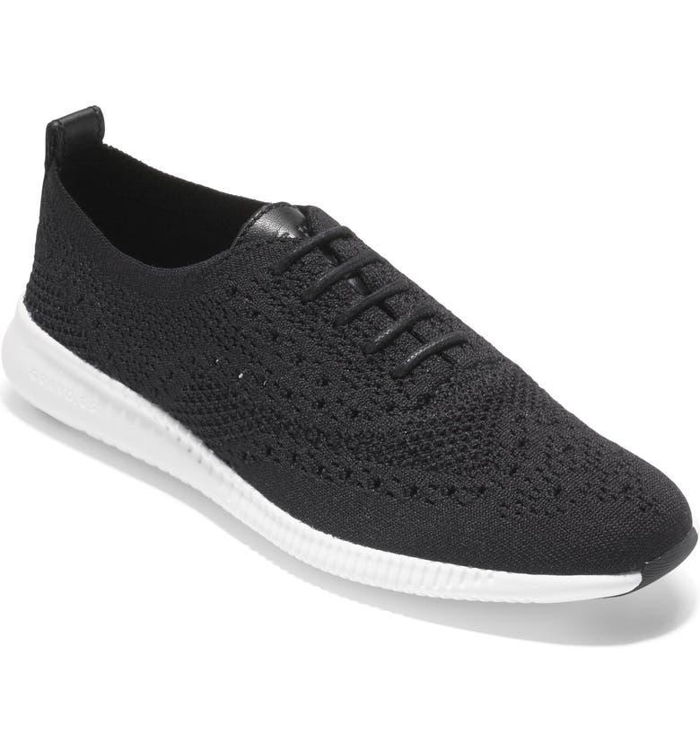 COLE HAAN 2.ZERØGRAND Stitchlite Wingtip Sneaker, Main, color, 001