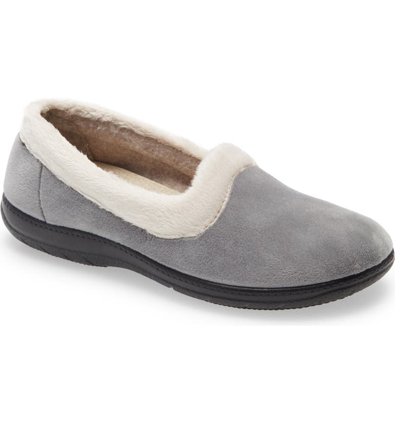 CORDANI Meena Faux Fur Slippers, Main, color, GREY FABRIC