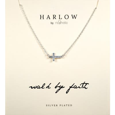Harlow By Nashelle Sideways Cross Boxed Necklace