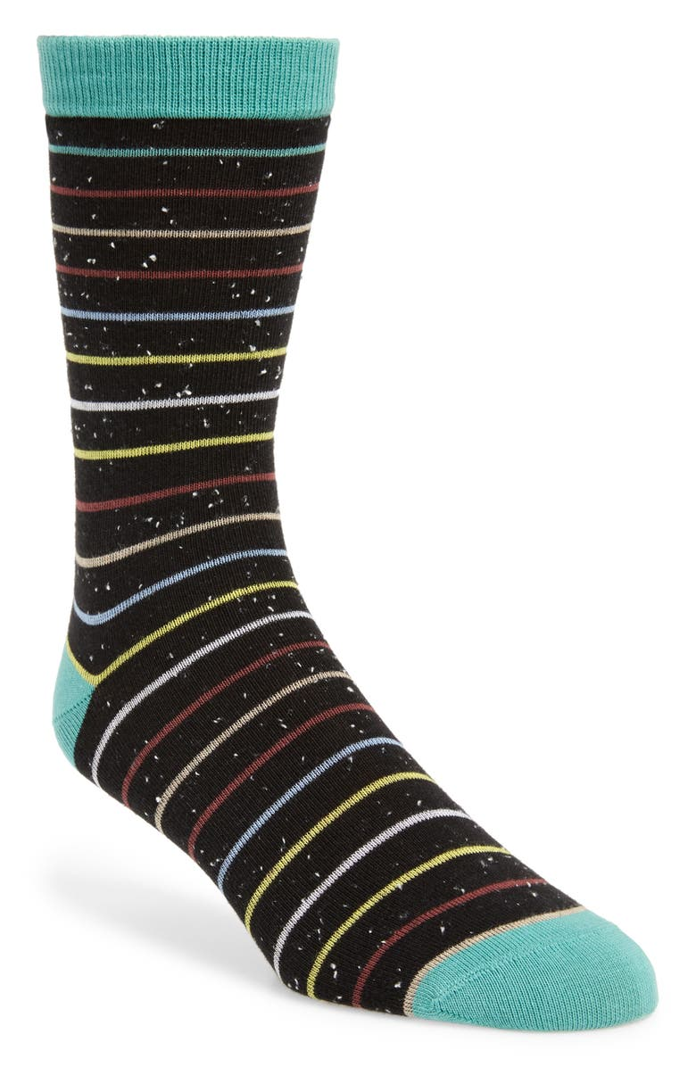 1901 Neps Striped Socks, Main, color, BLACK/ GREEN