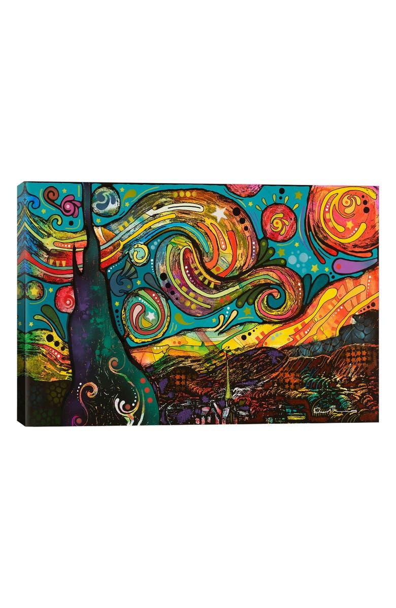 ICANVAS Starry Night Giclée Print Canvas Art, Main, color, BLACK