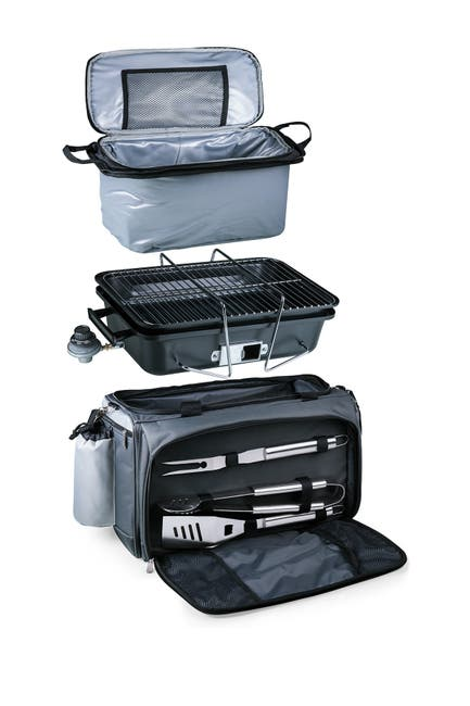 Image of ONIVA Vulcan Portable BBQ Trolley Cooler Tote/Portable Grill - 6-Piece Set