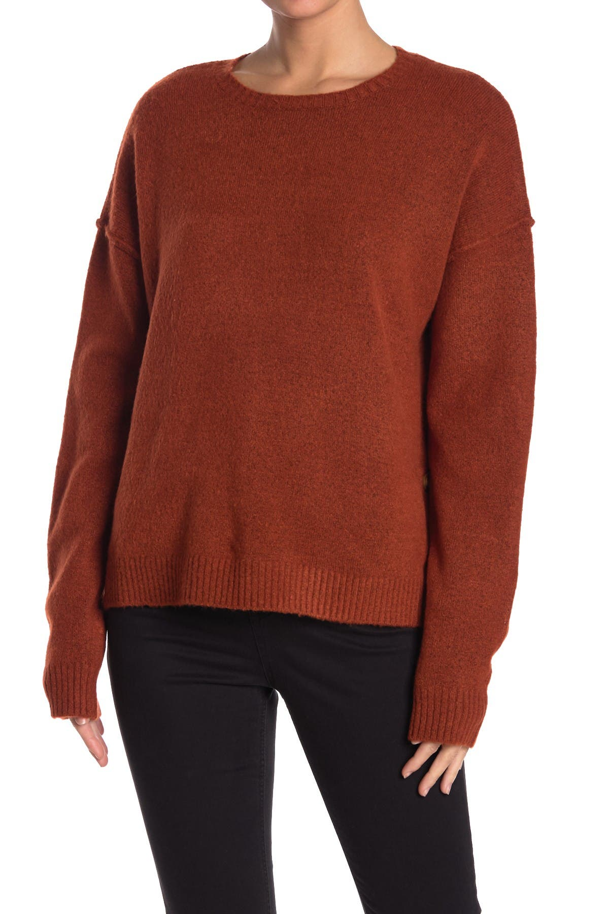 Image of SUPPLIES BY UNIONBAY Angie Side Button Pullover Sweater