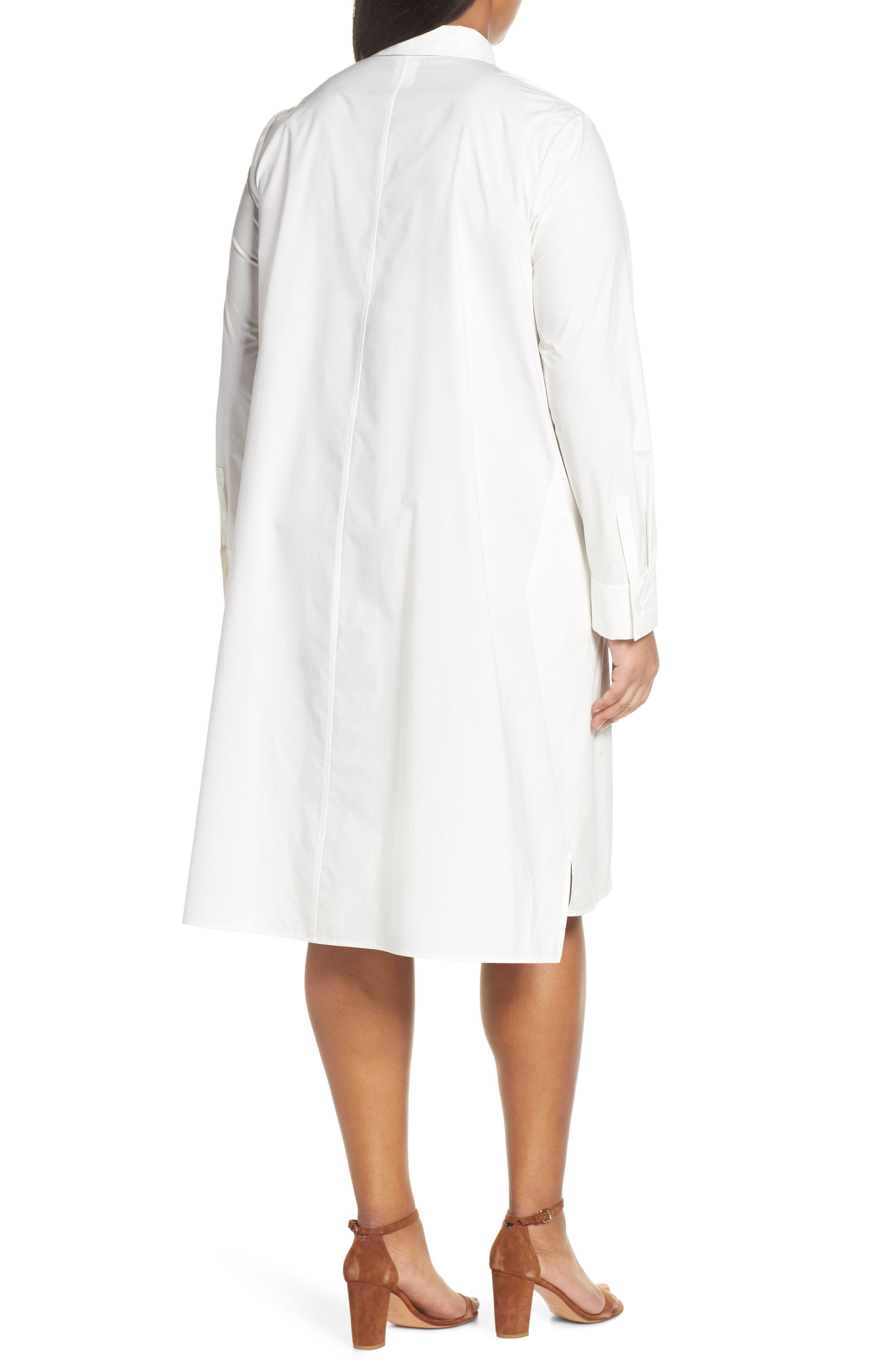 ,                             Porto A-Line Shirtdress,                             Alternate thumbnail 2, color,                             WHITE MULTI
