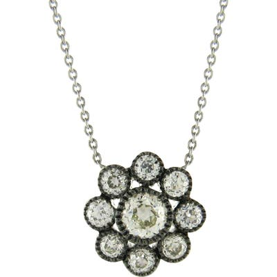 Sethi Couture Old Mine Diamond Cluster Pendant Necklace