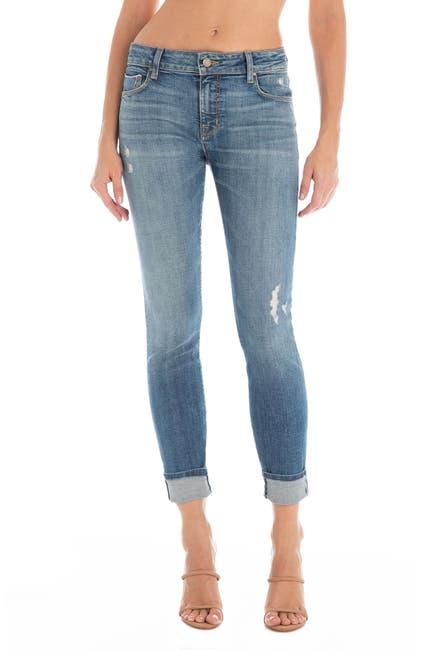 Image of FIDELITY DENIM Sola Distressed Ankle Skinny Jeans