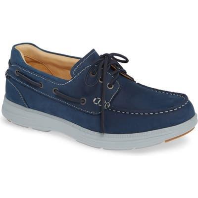 Samuel Hubbard New Endeavor Moc Toe Boat Shoe, Blue