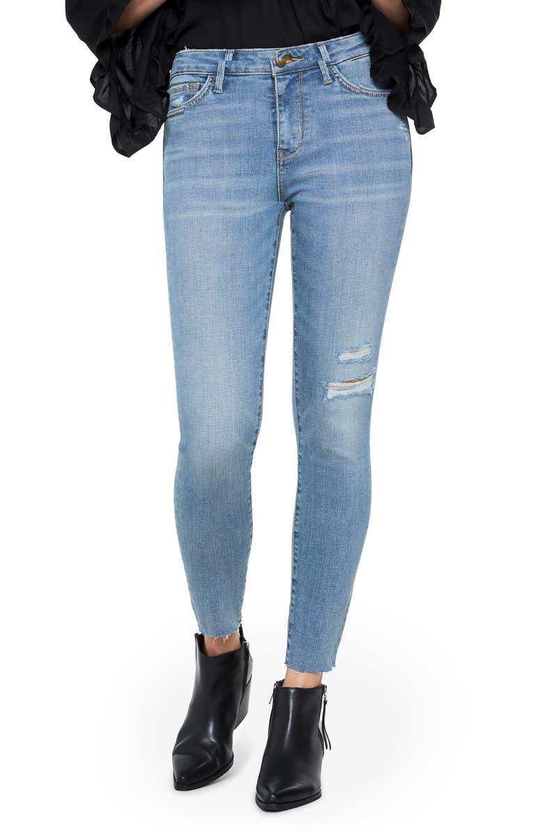 SAM EDELMAN The Kitten Crop Skinny Jeans, Main, color, OLIEN