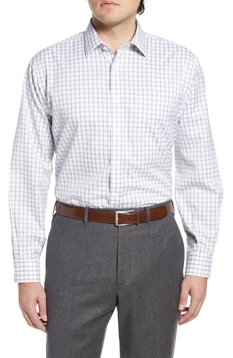 NORDSTROM MEN'S SHOP Smartcare<sup>™</sup> Classic Fit Check Dress Shirt, Main, color, GREY SLEET