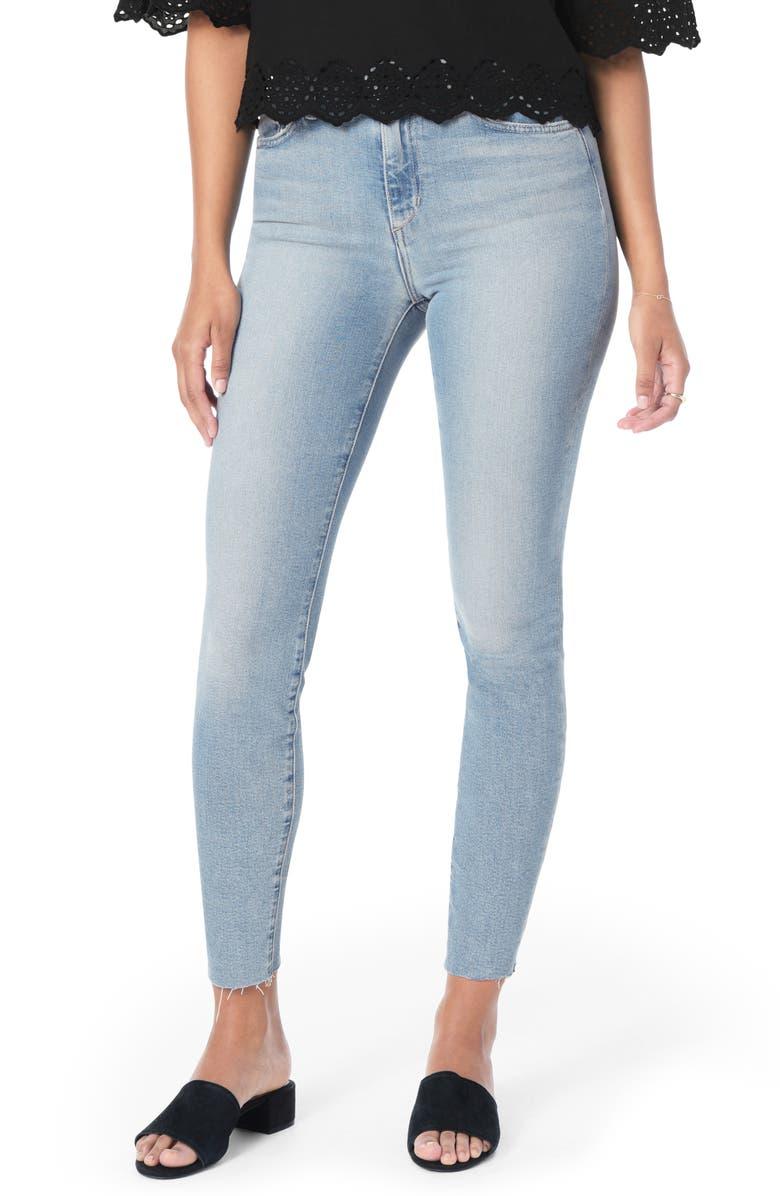 JOE'S Flawless - Honey Curvy High Waist Raw Hem Ankle Skinny Jeans, Main, color, 450