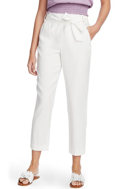 1.state Pants TIE WAIST TAPERED TROUSERS