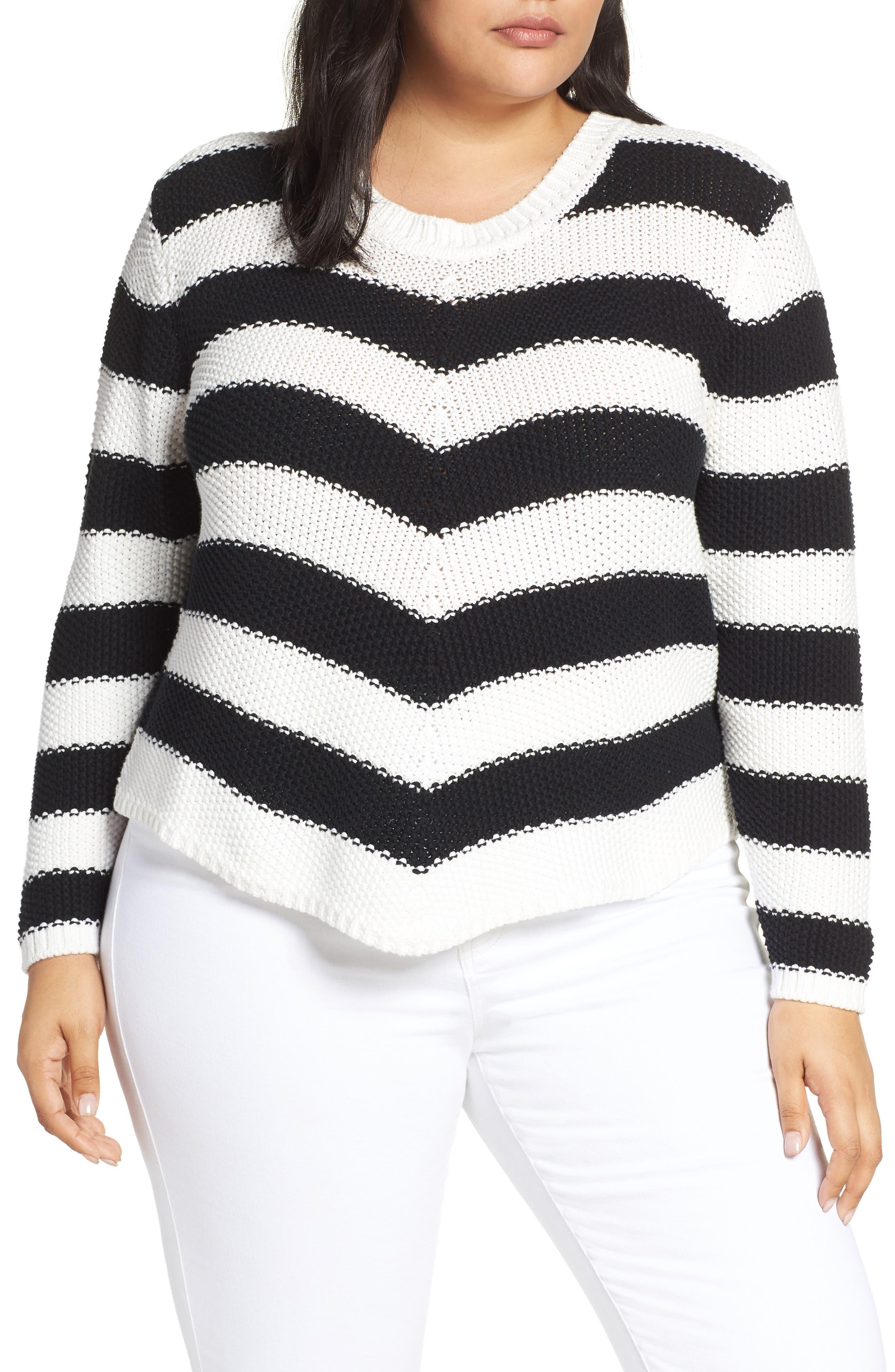 Stitch Stripe Sweater, Main, color, 001