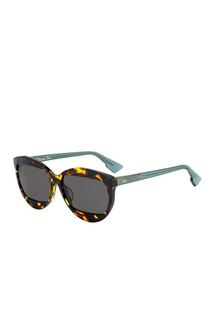 Image of CHRISTIAN DIOR Mania 2 57mm Round Sunglasses