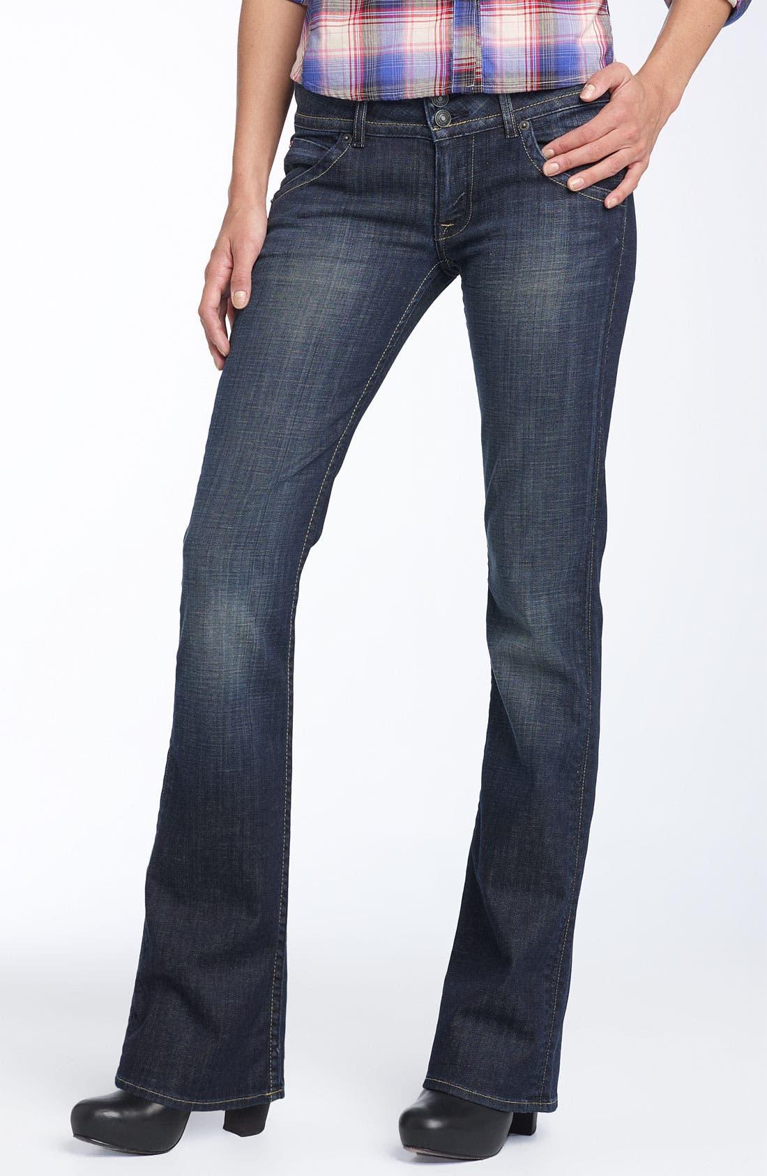 ,                             Signature Flap Pocket Bootcut Jeans,                             Main thumbnail 44, color,                             443