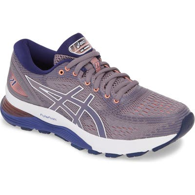 Asics Gel-Nimbus 21 Running Shoe, Grey
