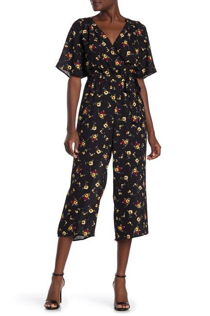 Image of ROW A Back Cutout Floral Print Jumpsuit