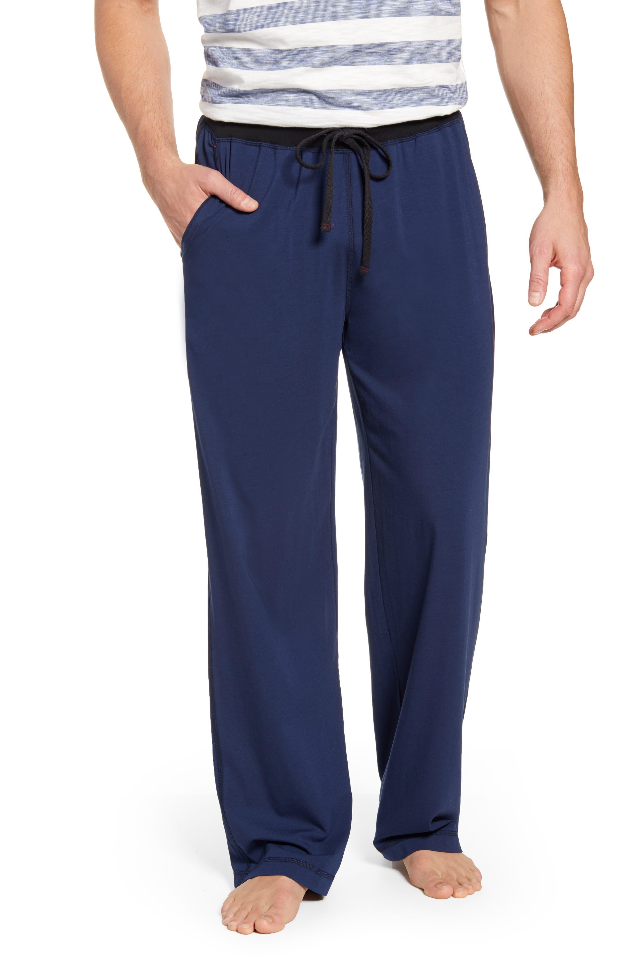 Daniel Buchler Cotton & Modal Pajama Pants, Blue