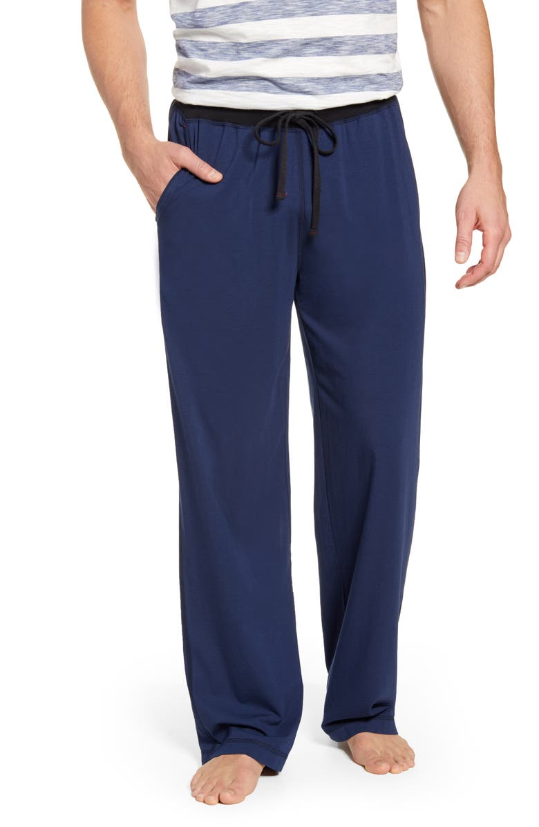 DANIEL BUCHLER Cotton & Modal Pajama Pants, Main, color, NAVY