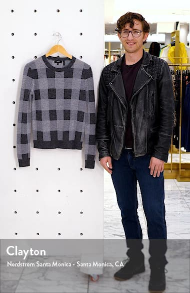 Plaid Crewneck Cashmere Sweater, sales video thumbnail