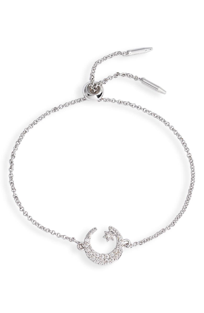 TEN79LA Mini Wishing Star Bracelet, Main, color, SILVER