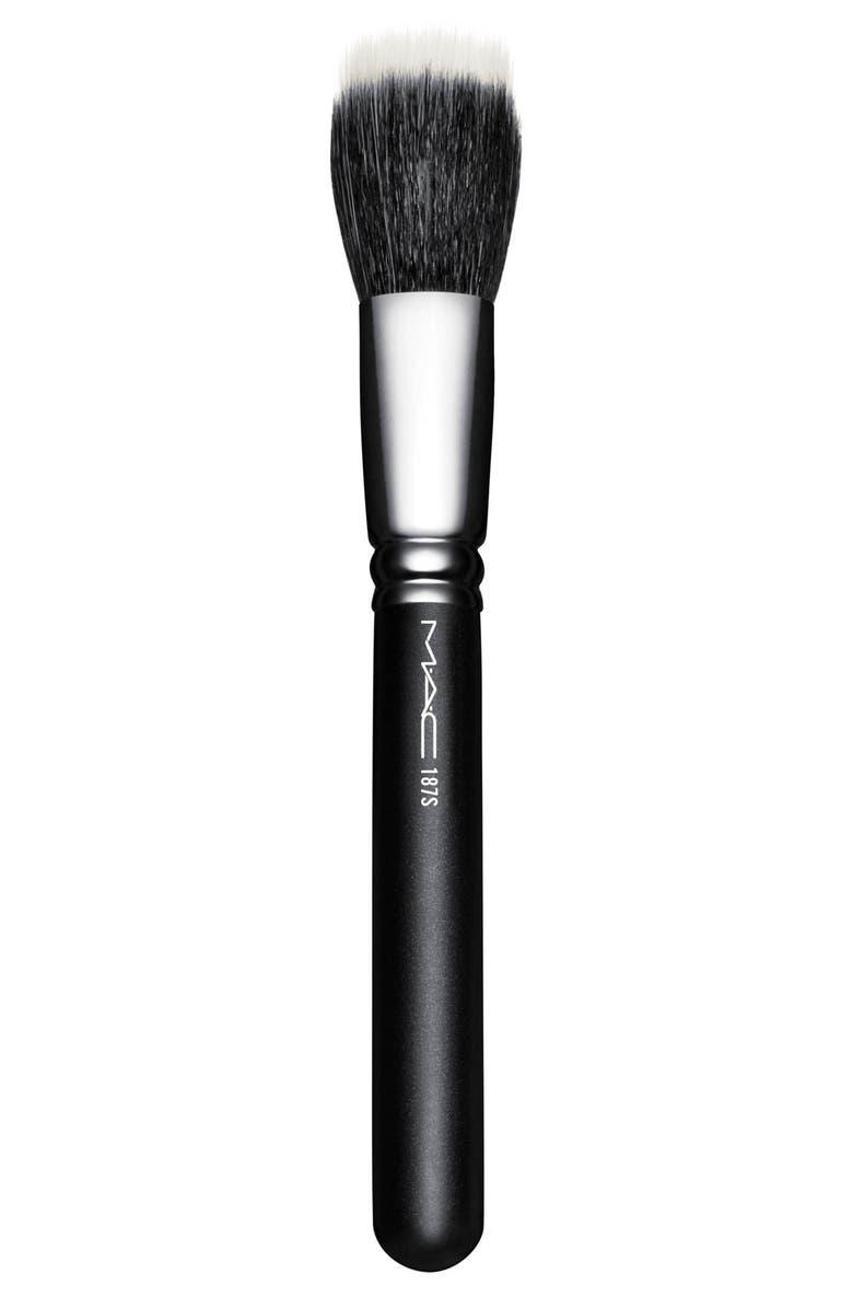 MAC COSMETICS MAC 187S Synthetic Duo Fibre Face Brush, Main, color, NO COLOR