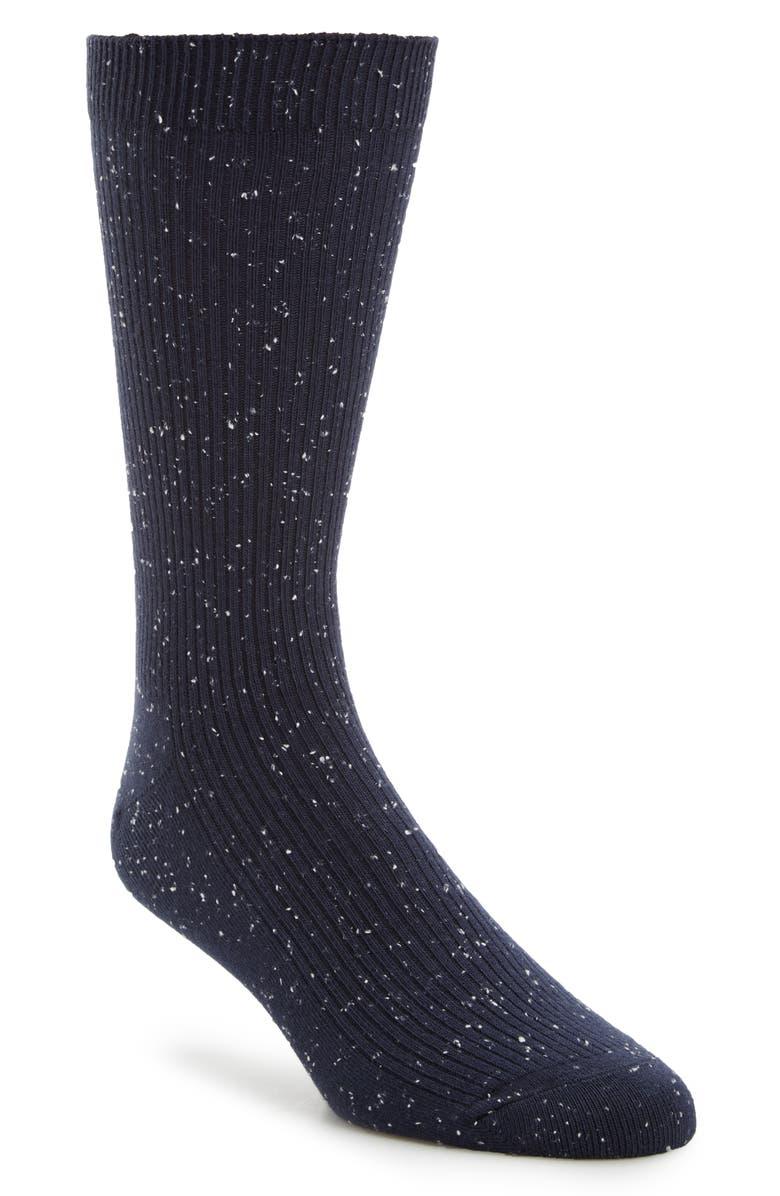 1901 Ribbed Socks, Main, color, NAVY IRIS