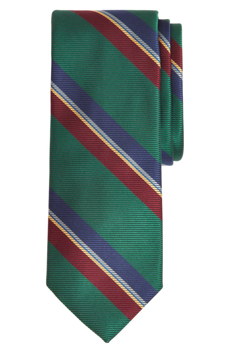 BROOKS BROTHERS Stripe Silk X-Long Tie, Main, color, 300