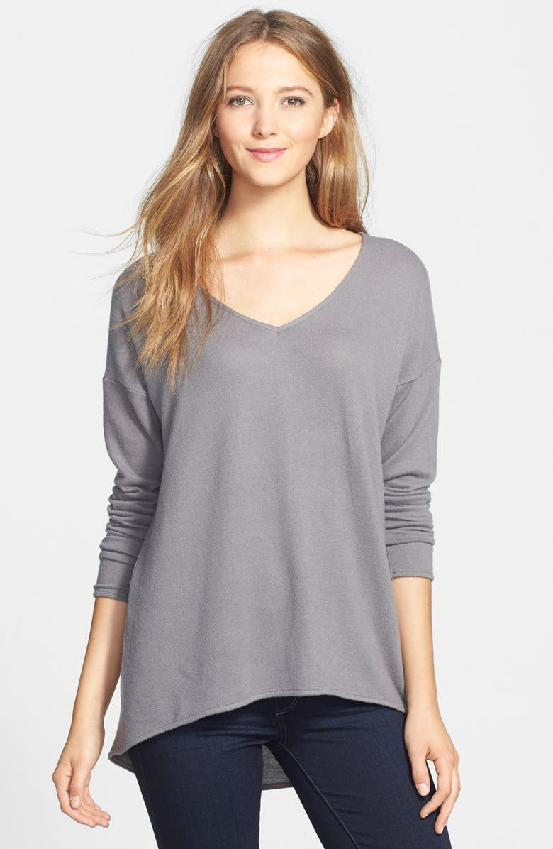 GIBSON High/Low V-Neck Sweater, Main, color, 037