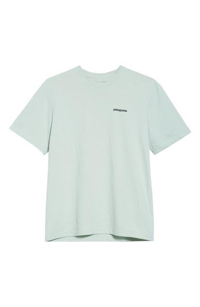 Patagonia P-6 Responsibili-Tee Logo Graphic T-Shirt In Lite Distilled Green