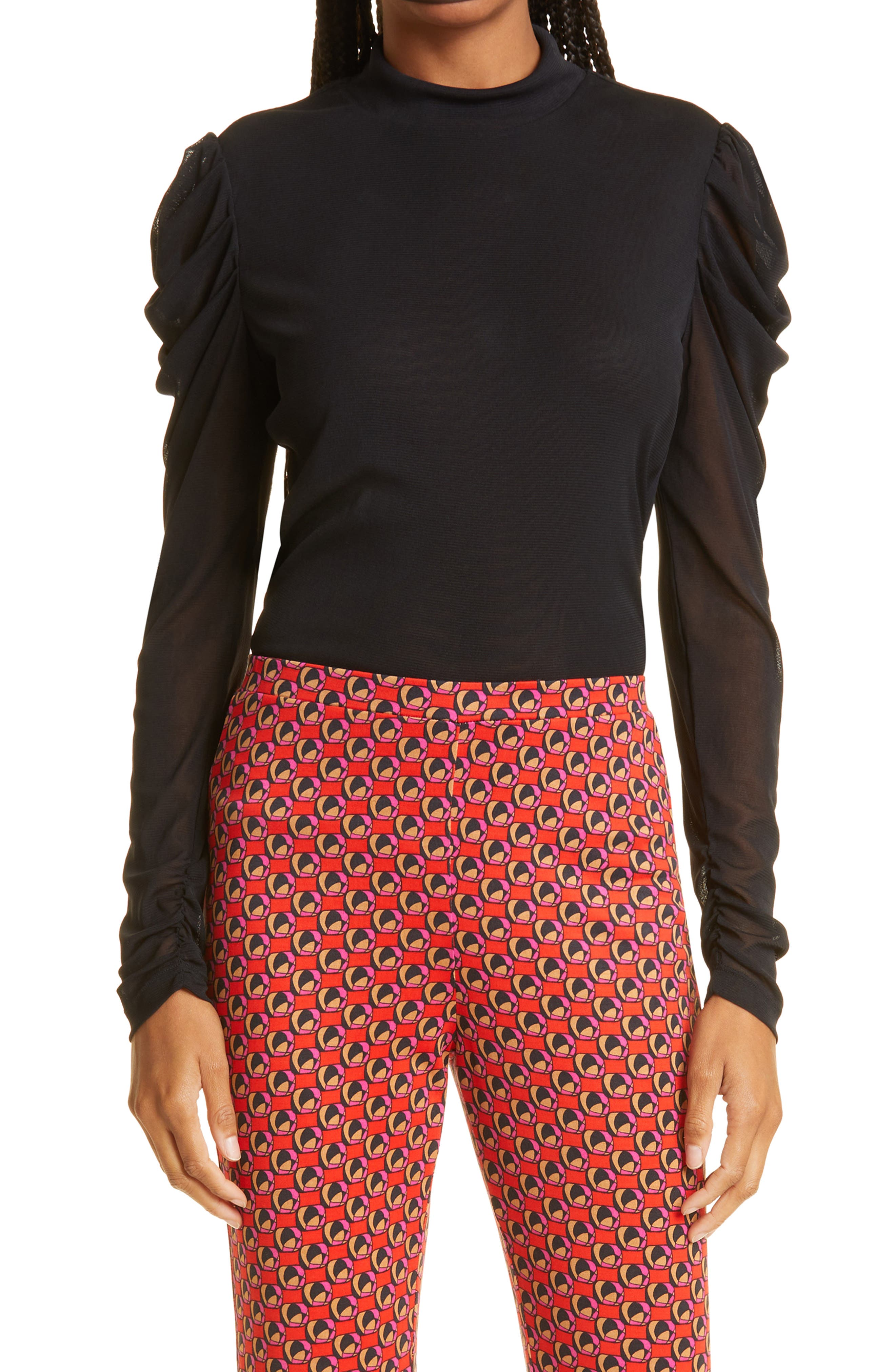Remy Ruched Mesh Top