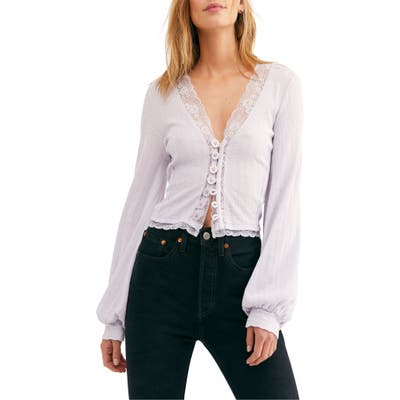 Free People Run With Me Cardigan, Purple