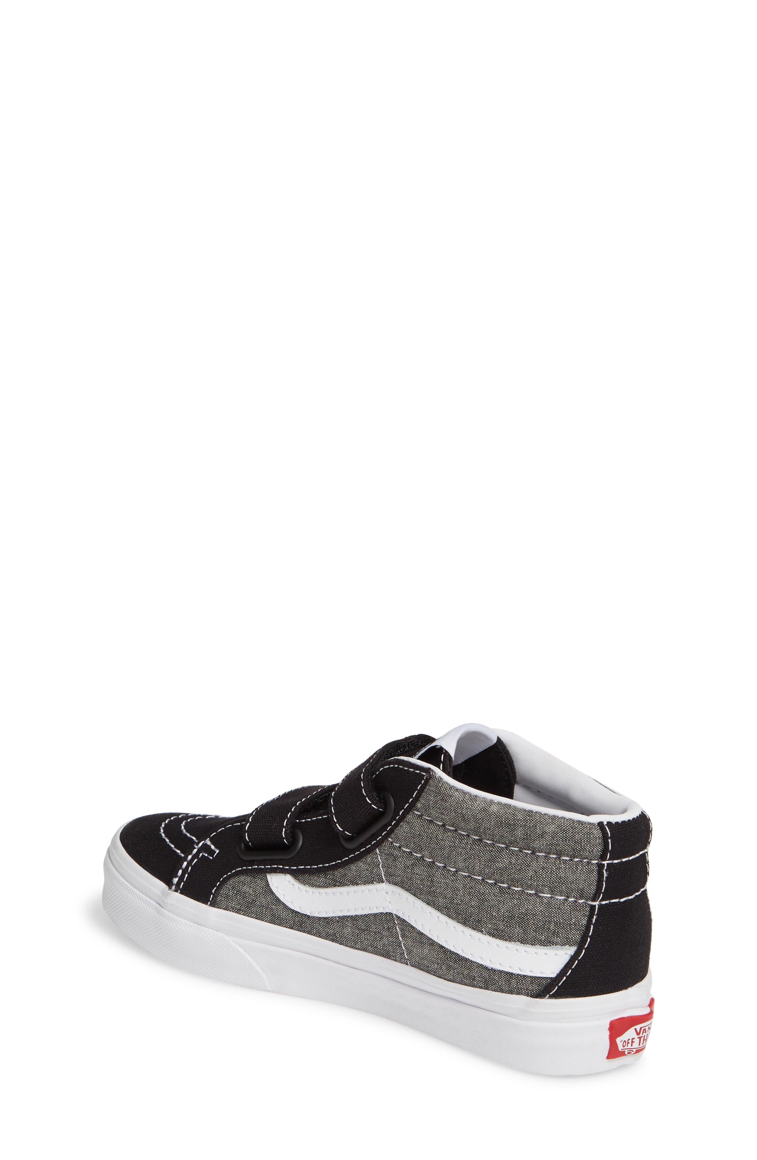 ,                             Sk8-Mid Reissue V Sneaker,                             Alternate thumbnail 2, color,                             CANVAS BLACK/ TRUE WHITE