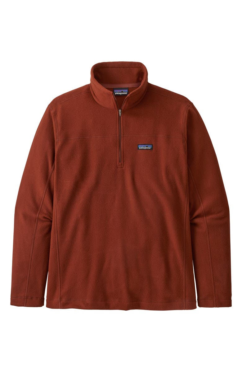 PATAGONIA Micro D<sup>®</sup> Quarter-Zip Fleece Pullover, Main, color, BARN RED