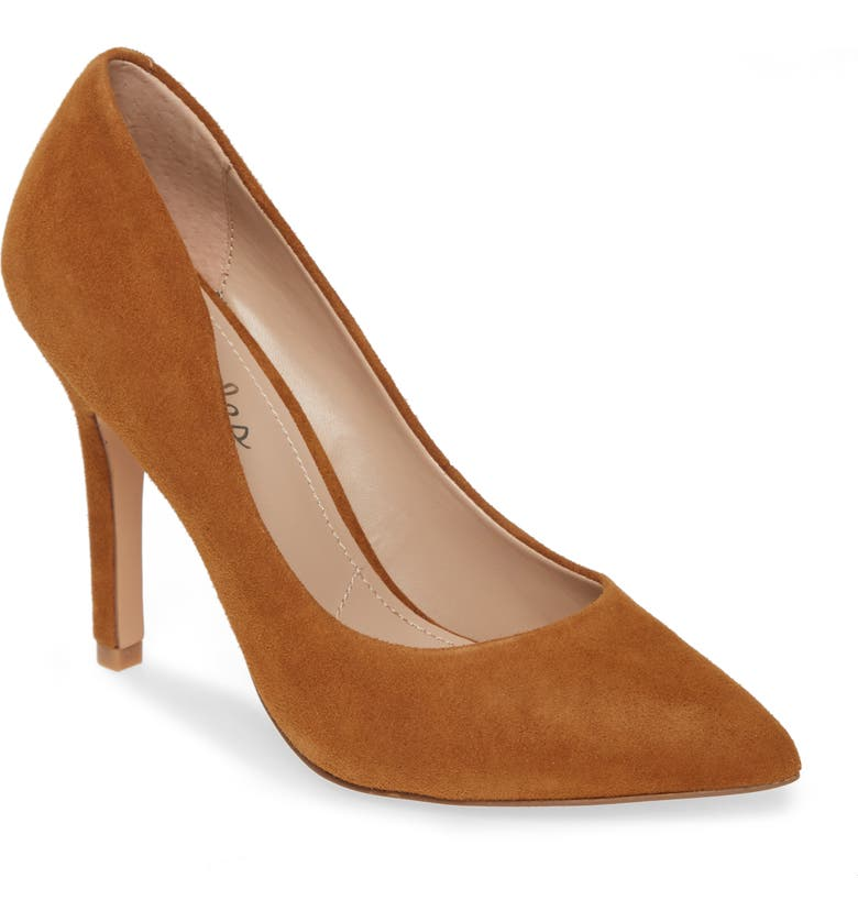 CHARLES BY CHARLES DAVID Maxx Pointy Toe Pump, Main, color, AMBER SUEDE