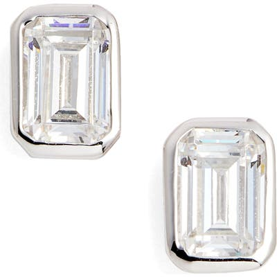 Lafonn Bezel-Set Emerald Cut Stud Earrings