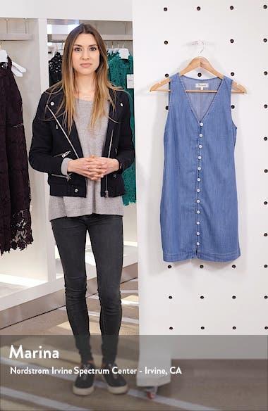 Easy Sleeveless Button Front Denim Dress, sales video thumbnail