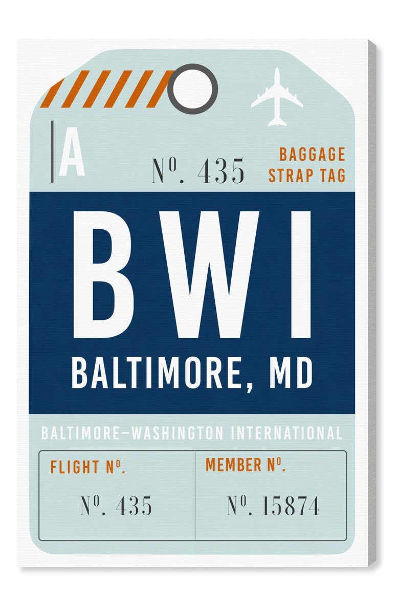 Oliver Gal Baltimore Luggage Tag Wall Art