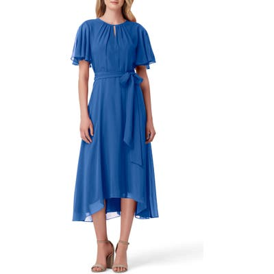 Tahari Chiffon Midi Dress, Blue