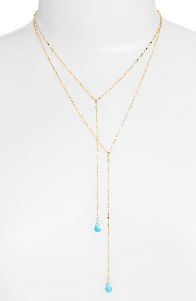 SEREFINA Layered Lariat Necklace, Main, color, 712
