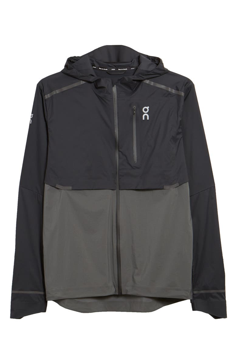ON Weather Water Repellent Hooded Jacket, Main, color, BLACK/SHADOW