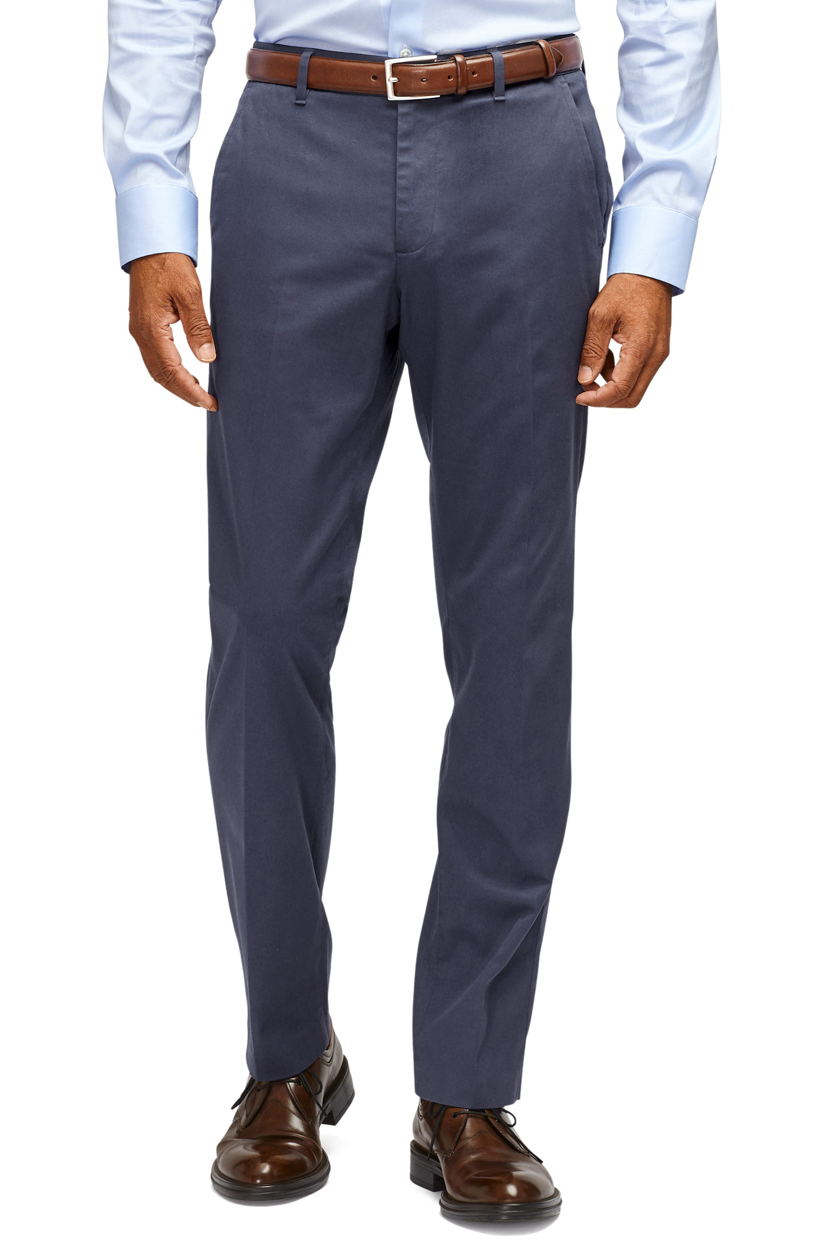 A sharp look for any day of the week, these flat-front pants are made from soft, easy-care stretch fabric and cut for a trim (but not tight) fit. Style Name: Bonobos Stretch Weekday Warrior Slim Fit Dress Pants. Style Number: 5647316 8. Available in stores.