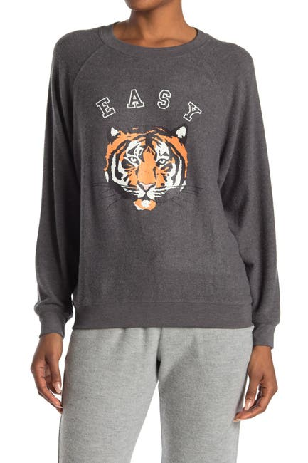 Image of WILDFOX Sommers Easy Tiger Pullover Sweatshirt