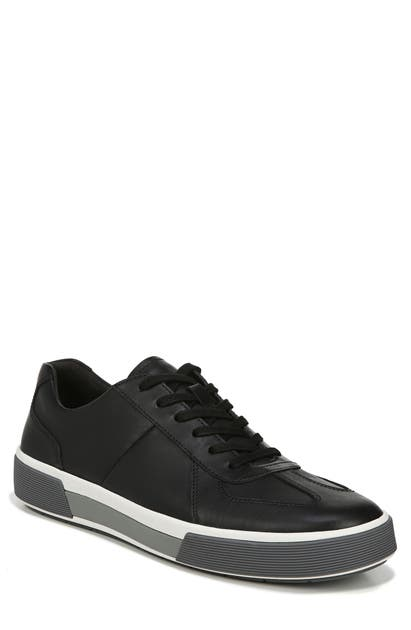 Vince Rogue Leather Sneakers In Black