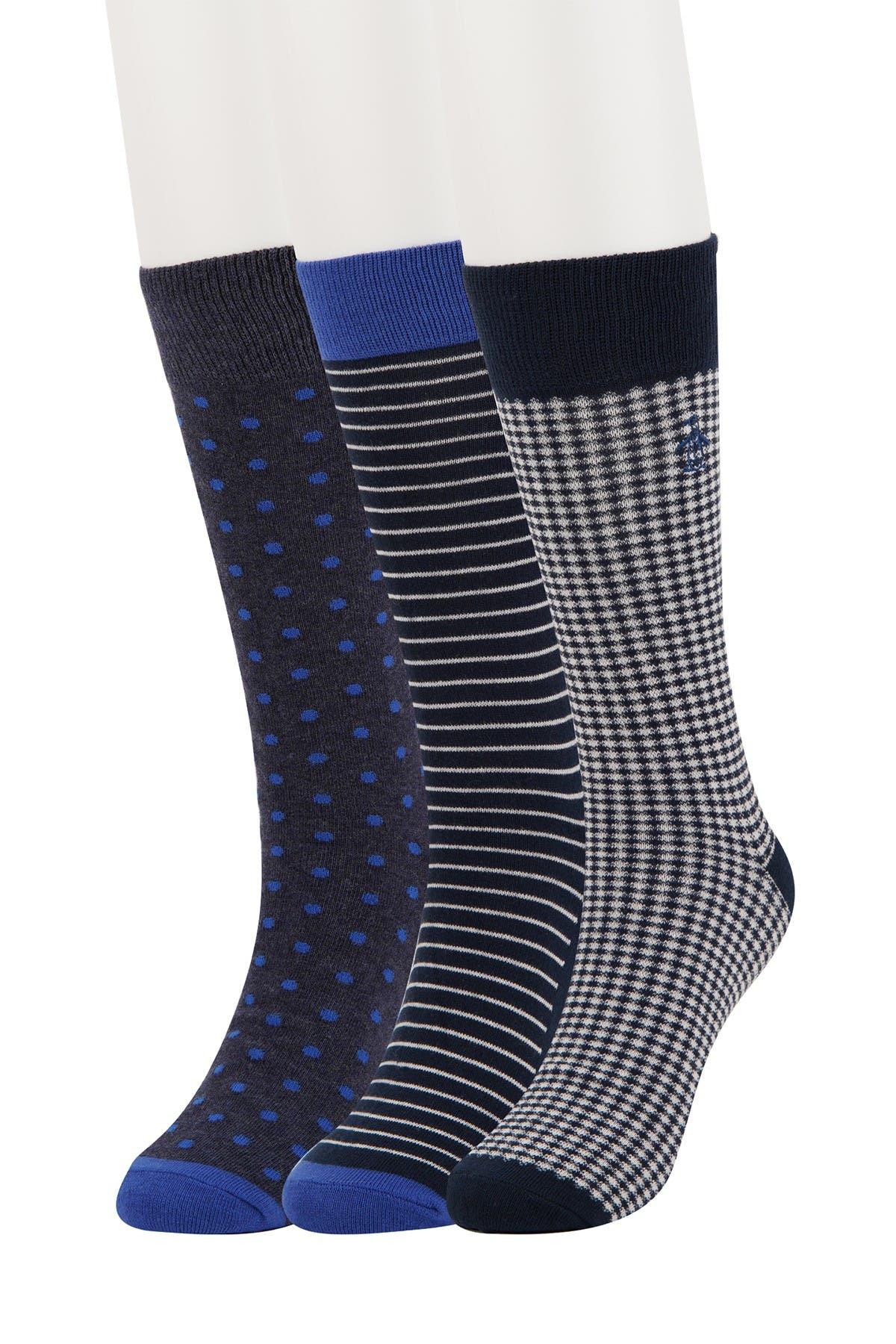 Image of Original Penguin Lewis Gingham Socks - Pack of 3