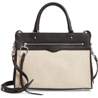 Rebecca Minkoff Bedford Zip Leather Satchel - Beige